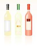 Three white wines Stock Photography