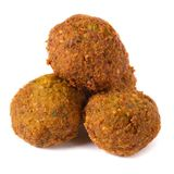 Three whole falafel isolated on white Royalty Free Stock Photos