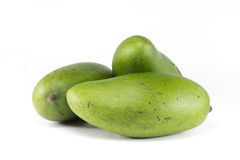 Three Whole Green Mango Royalty Free Stock Photos