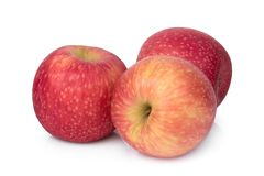 Free Three Whole Pink Lady Apple Isolated On White Stock Photos - 156215723