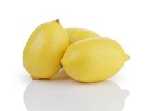 Three whole ripe lemons Royalty Free Stock Image