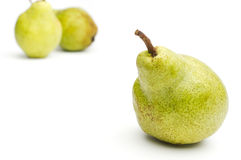 Three Williams sort pears isolated against white background sele. Ctive focus Stock Photography