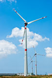 Three wind generator electricity Stock Photography