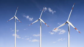 Three wind generator Royalty Free Stock Images