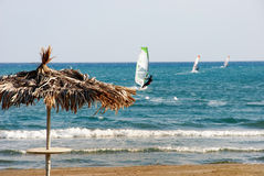 Three Wind Surfers Royalty Free Stock Images