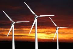Three wind turbines Royalty Free Stock Photos