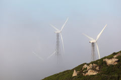 Three wind turbines Royalty Free Stock Photo