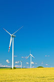 Three wind turbines Stock Image
