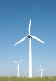 Three wind turbines stock photos