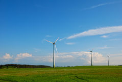 Three windmills Stock Photos