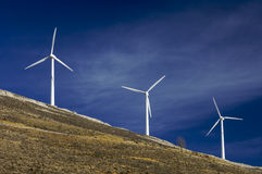 Three windmills. And a blue sky Royalty Free Stock Image