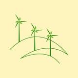 Three windmills Stock Images