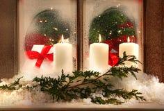 Free Three Window Candles Stock Photo - 3656500