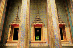 Three Window Temple. In Thailand Royalty Free Stock Photo