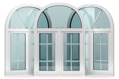 Three windows with arches Stock Photo