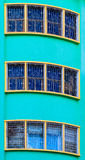 Three windows with bars Stock Photos