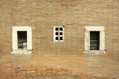 Three windows stock image