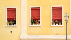 Three windows Royalty Free Stock Images