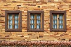 Three windows Royalty Free Stock Images