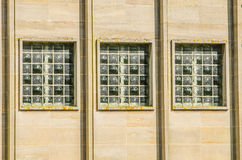 Three windows in industrial building Stock Photos