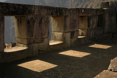 Three windows from Machu Picchu Royalty Free Stock Photo