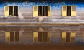 Three Windows Reflection Water, Singkil, Indonesia Royalty Free Stock Images