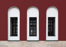 Three windows of temple Royalty Free Stock Photo