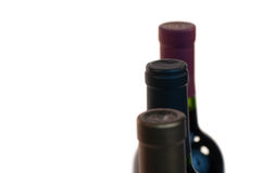 Three WIne Bottle Necks Stock Photos