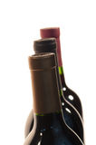 Three WIne Bottle Necks Stock Photography