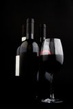 Three wine bottles Royalty Free Stock Photo