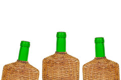 Three wine bottles Stock Images