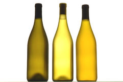 Three Wine Bottles Stock Photos