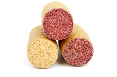 Three Wine Corks Royalty Free Stock Images