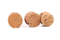 Three wine corks. Royalty Free Stock Image