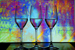 Three wine glass Stock Images