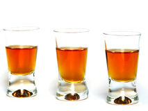 Three wine-glass Royalty Free Stock Image