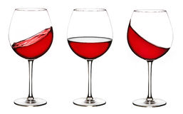 Three wine glasses Stock Images