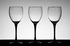 Three wine glasses Stock Photography