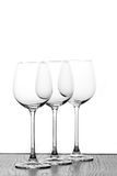 Three wine glasses. In backlight Royalty Free Stock Photos