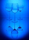 Three wine glasses Royalty Free Stock Image