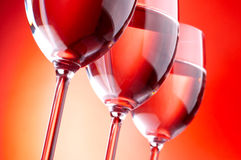 Three wine glasses Royalty Free Stock Images