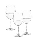 Three wine glasses in black and white Royalty Free Stock Photo