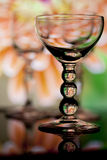Three wine glasses with bubble stems Royalty Free Stock Photography