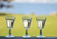 Three wine glasses Royalty Free Stock Photo