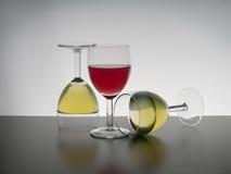 Three wine glasses still life Royalty Free Stock Image