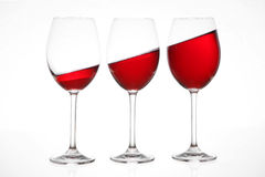 Three wine glasses Royalty Free Stock Photos
