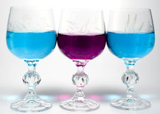 Three Wineglass Stock Photos