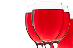 Three wineglass Stock Image