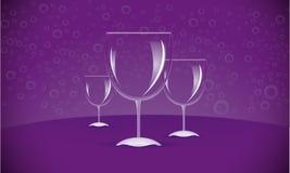 Three WineGlasses Royalty Free Stock Photos
