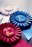 Three winners rosettes Royalty Free Stock Photo